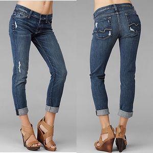 "7FAM ""Josefina"" Skinny Boyfriend Distressed Jeans"